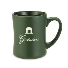 The Greenbrier Logo Springhouse Emblem Mug- Green