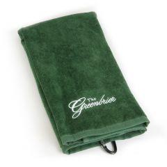 The Greenbrier Logo Golf Towel - Dark Green