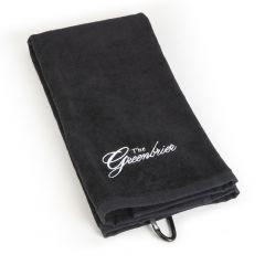 The Greenbrier Logo Golf Towel - Black