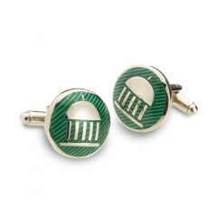 The Greenbrier Springhouse Cuff Links-Green