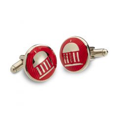 The Greenbrier Springhouse Cuff Links-Red