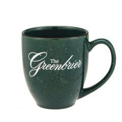 The Greenbrier Logo Bistro Speckled Mug