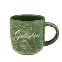 The Greenbrier Logo Etched Marble Mug - Green