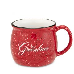The Greenbrier Logo Speckled Colonial Mug - Red