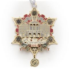 The Greenbrier 2021 Front Entrance Collectible Medallion Ornament