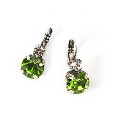 Greenbrier Exclusive Mariana Large Stone Earrings - Green