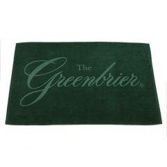 Greenbrier Logo Beach Towel- Hunter Green