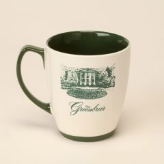 The Greenbrier North Entrance Mug with Forest Green Interior