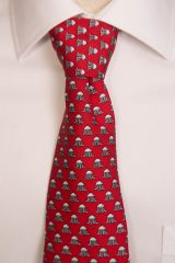 Greenbrier Silk Springhouse Tie-Red