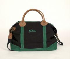 Greenbrier Logo Weekender Bag with Leather Trim- Black/Green