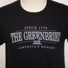 Greenbrier Logo Screen Print Tee Shirt- Black