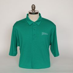 Greenbrier Logo Forge Pencil Stripe Polo (Big & Tall) - Kelly Green
