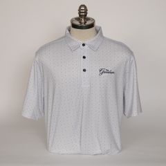 Greenbrier Logo Pike Dot Print Polo (Big & Tall) - Charcoal