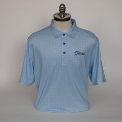 Greenbrier Logo Pike Dot Print Polo (Big & Tall) - Tour Blue
