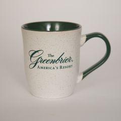 The Greenbrier Logo Granite Mug - White/Green
