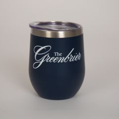 Greenbrier Logo Insulated Wine Tumbler- navy