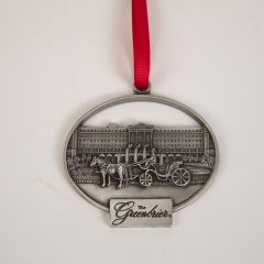 The Greenbrier Horse & Carriage Front Entrance Pewter Ornament