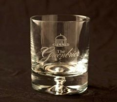 Greenbrier Logo Clear Rocks Glass