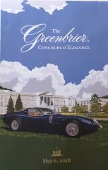 The Greenbrier 2018 Inaugural Concours D'Elegance Poster