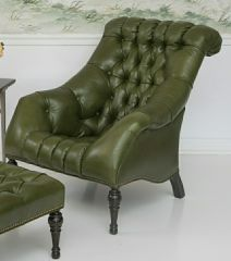 Greenbrier Tufted Leather Lounge Chair (Quote)