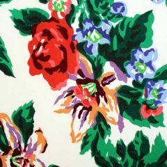 Dorothy Draper- Fazenda Lily Wallpaper (Red)