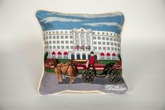 The Greenbrier Front Entrance Carriage Pillow