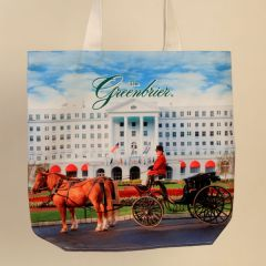 Greenbrier Front Entrance with Carriage Tote Bag