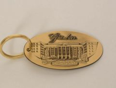The Greenbrier North Entrance Brass Key Fob