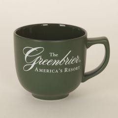 Greenbrier Logo Latte/Soup Mug- Green