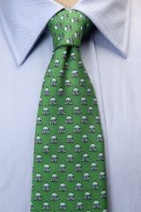 Greenbrier Silk Springhouse Neck Tie- Green