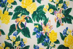 Dorothy Draper- Fazenda Lily Wallpaper (Yellow)