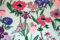 Dorothy Draper- Les Fleures de Toulon Wallpaper - Purple/Aqua