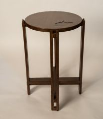 Greenbrier Summit Customizable Drink Table - Cherry Malt with WV