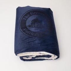 The Greenbrier America's Resort Plush Blanket- Navy