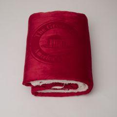 The Greenbrier America's Resort Plush Blanket- Red