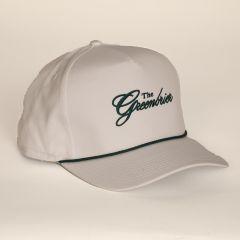 Greenbrier Logo Retro Fit Rope Cap- White/Green