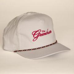 Greenbrier Logo Retro Fit Rope Cap- White/Neon