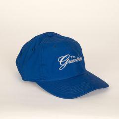 Greenbrier Logo Lightweight Cotton Cap- Royal Blue