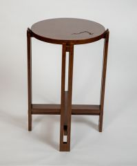 Greenbrier Summit Customizable Drink Table - Cherry with Virginia