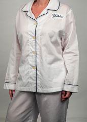 The Greenbrier Luxe Pima Cotton L.S. Pajama Set- White