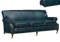 Greenbrier Leather Caster Sofa (Quote)