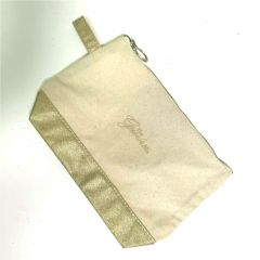 Greenbrier Logo Cosmetic Bag- Gold