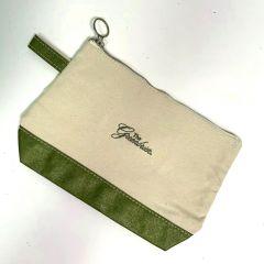 Greenbrier Logo Cosmetic Bag- Metallic Green