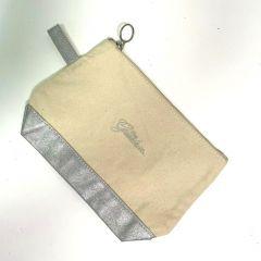 Greenbrier Logo Cosmetic Bag- Silver