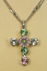 Greenbrier Exclusive Mariana Large Stone Cross Necklace