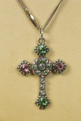 Greenbrier Exclusive Mariana Small Stone Cross Necklace