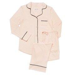 "The Greenbrier ""G"" Logo Pima Knit Long Sleeved Pajama Set- Pink"