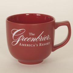 Greenbrier Logo Latte/Soup Mug- Red