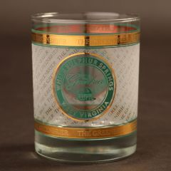 Greenbrier Logo Gold Overlay Rocks Glass