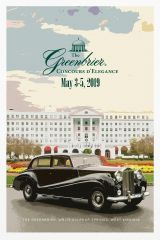 The Greenbrier 2019 Concours D'Elegance Poster